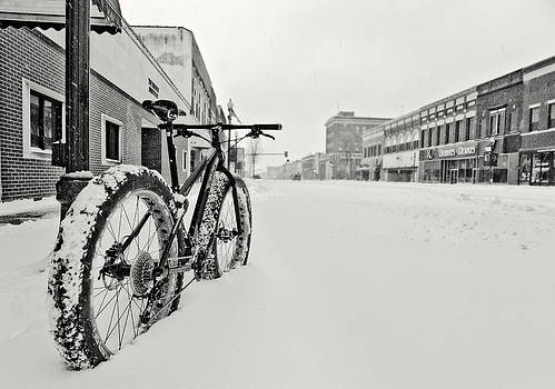 Eric Benjamin - Downtown Emporia in the Snow