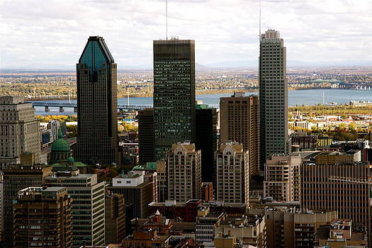 Downtown Montreal in Fall by Jocelyne Choquette