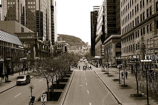 Downtown Montreal by Jocelyne Choquette