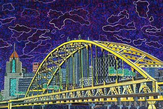 Downtown Pittsburgh - Fort Pitt Bridge by Micah Mullen