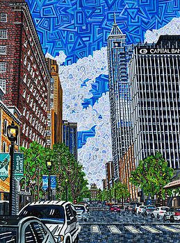 Downtown Raleigh - Fayetteville Street by Micah Mullen