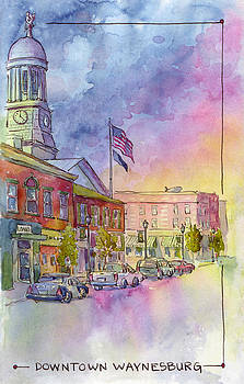 Downtown Waynesburg by Leslie Fehling