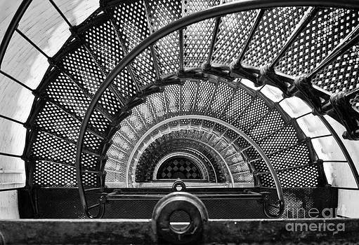Downward Spiral BW by Douglas Stucky