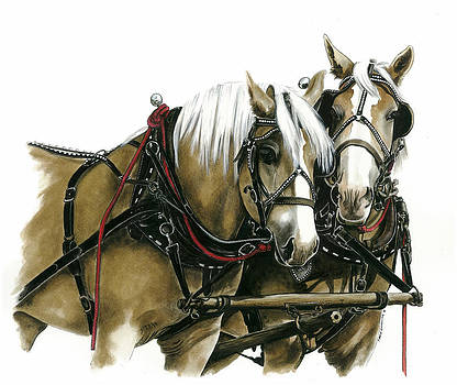 Draft Horses by Marie Downing