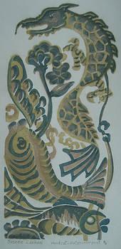 Dragon and Fish by Ousama Lazkani