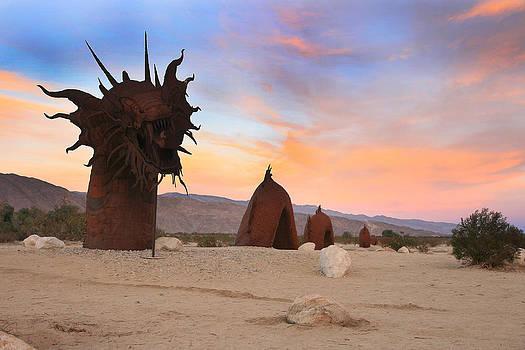 Dragon Sculpture Sunset 2 by Scott Cunningham