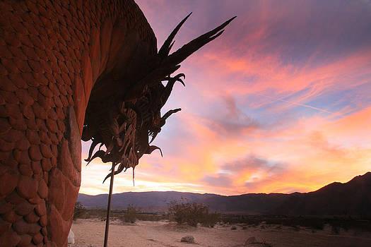 Dragon Sculpture Sunset by Scott Cunningham