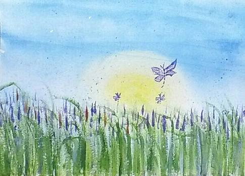 Dragonflies in the Tullies by Carol Duarte