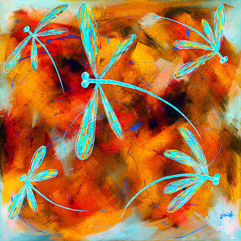 Dragonfly Desert Flit by Lyndsey Hatchwell