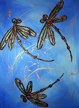 Dragonfly Flit - Blues by Lyndsey Hatchwell