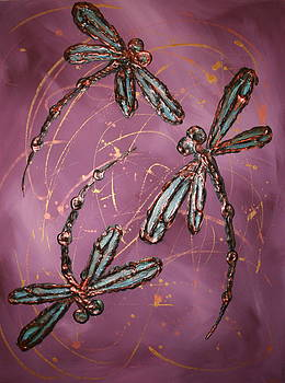 Dragonfly Flit - Dusky Pink by Lyndsey Hatchwell