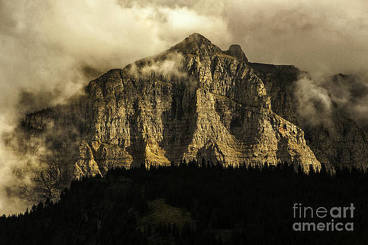 Thomas Schoeller - Dramatic Light on Mount Cannon - Glacier National Park