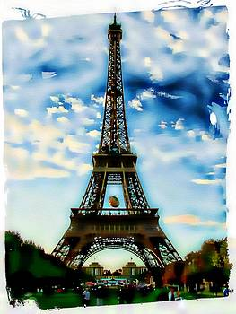 Dreamy Eiffel Tower by Kathy Churchman