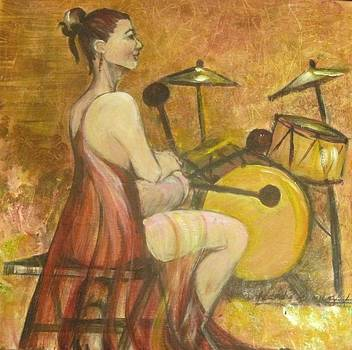 Drummer Woman by Georgia Annwell