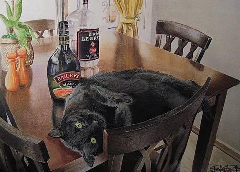 Drunken Feline by Steven Gutierrez