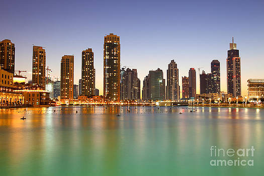 Fototrav Print - Dubai Night Sunset City skyline