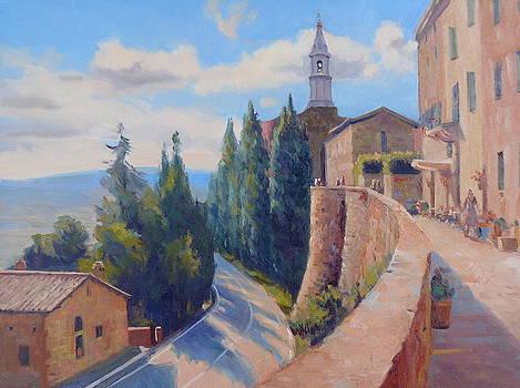 Duomo Pienza by Dianne Panarelli Miller