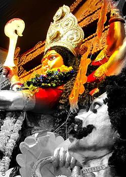 Durga And Mahishasura by Chandrima Dhar