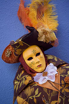 During Carnival in Venice Italy by Indiana Zuckerman