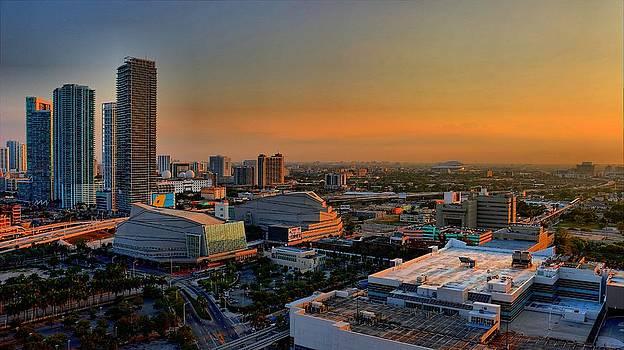 Dusk in Miami by Jennifer Wheatley Wolf