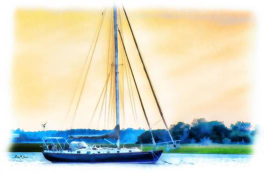 Barry Jones - Sailboat - Coastal - Dusk on the Coast