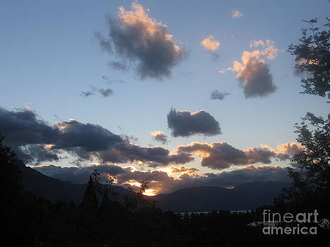 Dusk over Queenstown . by  Lines