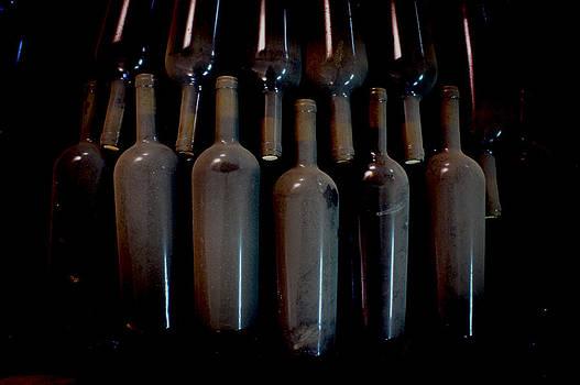 Dusty Wine Bottles by Cindy Bray