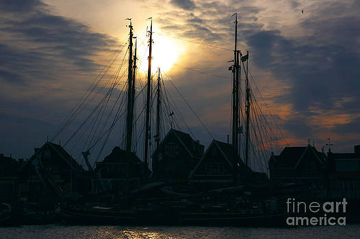 Nick  Biemans - Dutch harbour by night