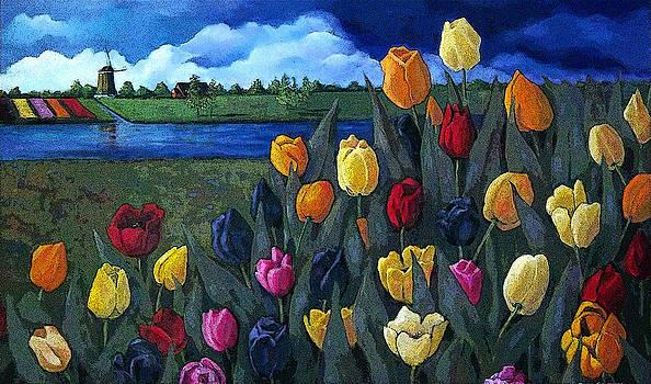 Joyce Geleynse - Dutch Tulips And Landscape