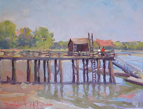 Duxbury Pier by Dianne Panarelli Miller