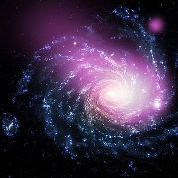 Dwarf Galaxy Caught Ramming Into a Large Spiral Galaxy II by Robert Rhoads