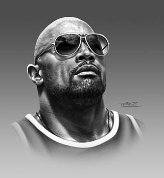 Dwayne Johnson Portrait by Justo Terez Jr