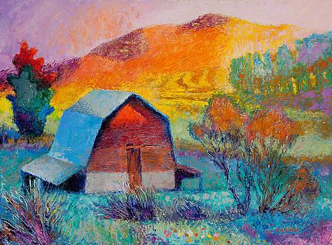 Dyeleaf Mountain Barn Sunrise by Lisa Blackshear