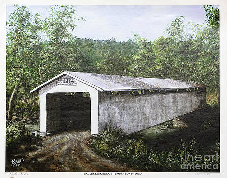 Eagle Creek Covered Bridge Brown County Ohio by Rita Miller