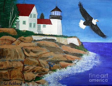 Bill Hubbard - Eagle Isle Light in Casco Bay Maine