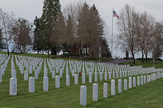 Mick Anderson - Eagle Point National Cemetery in Winter 2