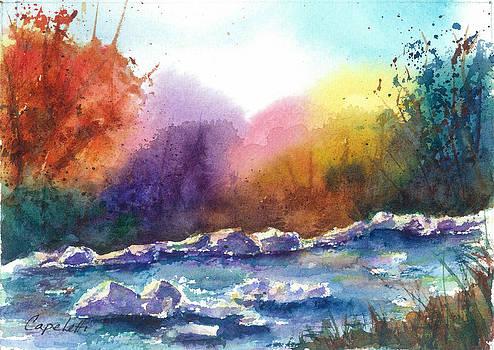 Eagle River Seasons Winter by Barb Capeletti
