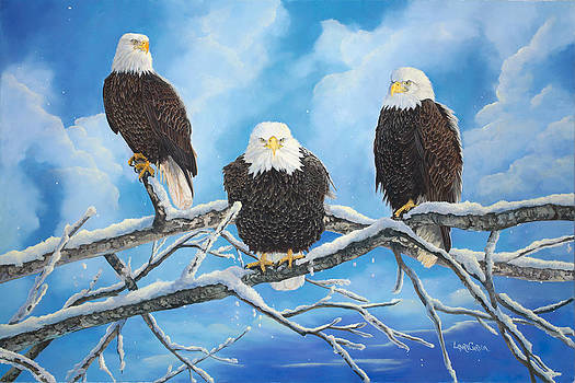 Eagles Warming in the Sun by Laura Curtin