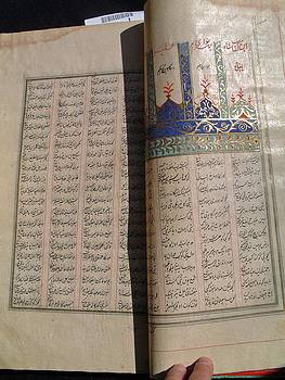 Early 19th. century Islamic laic art manuscript book by Antique Islamic art calligraphist