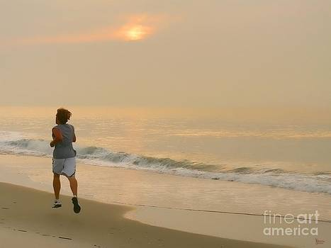 Early Morning Jog by Jeff Breiman