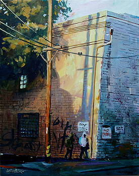 Early Morning Street Corner by David Lobenberg