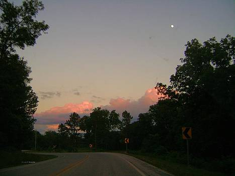 Early sunset by Edward Hamilton