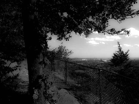 East Rock Black and White by Stephen Melcher