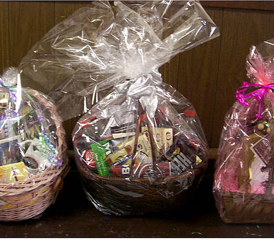 Easter baskets in a Row by De Beall