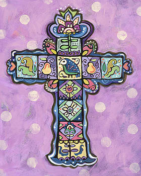 Easter Cross on Orchid by Jen Norton