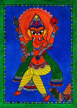 Ecstatic Ganesha by Shishu Suman