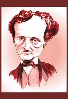 Edgar Allan Poe Illustration by Diego Abelenda