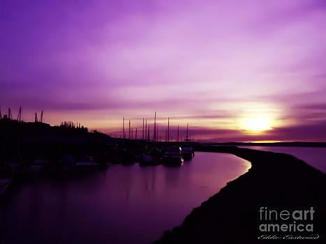 Edmonds Washington Boat Marina Sunset by Eddie Eastwood