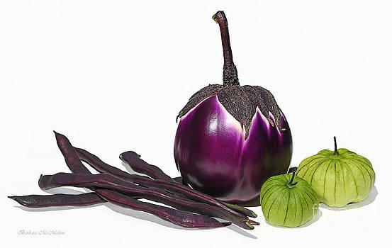 Barbara McMahon - Eggplant Tomatillos and Beans
