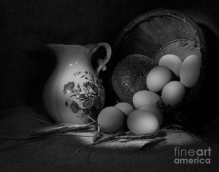 Eggs Bread and Pitcher by Cecil Fuselier